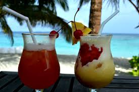 Tropical Drinks near Beach