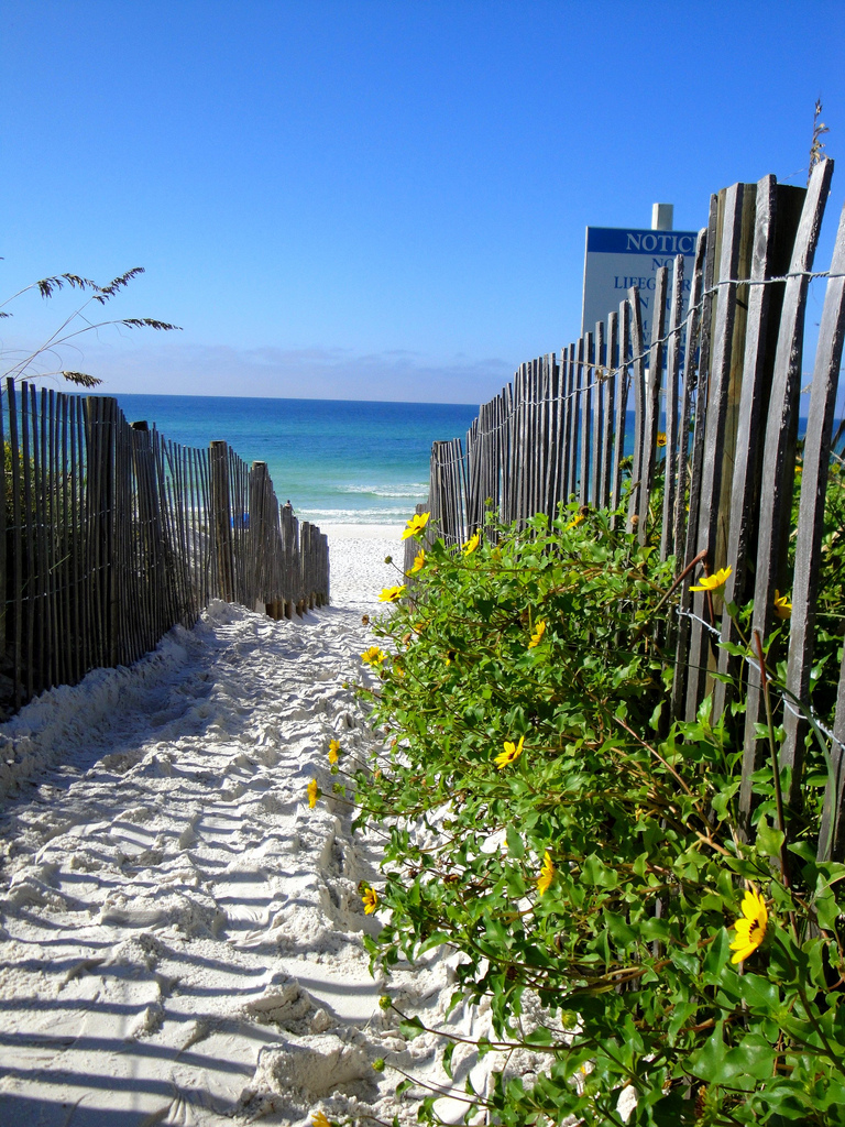 Destin Florida Walkway to Beach