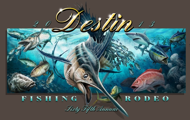 Destin Fishing Rodeo Poster